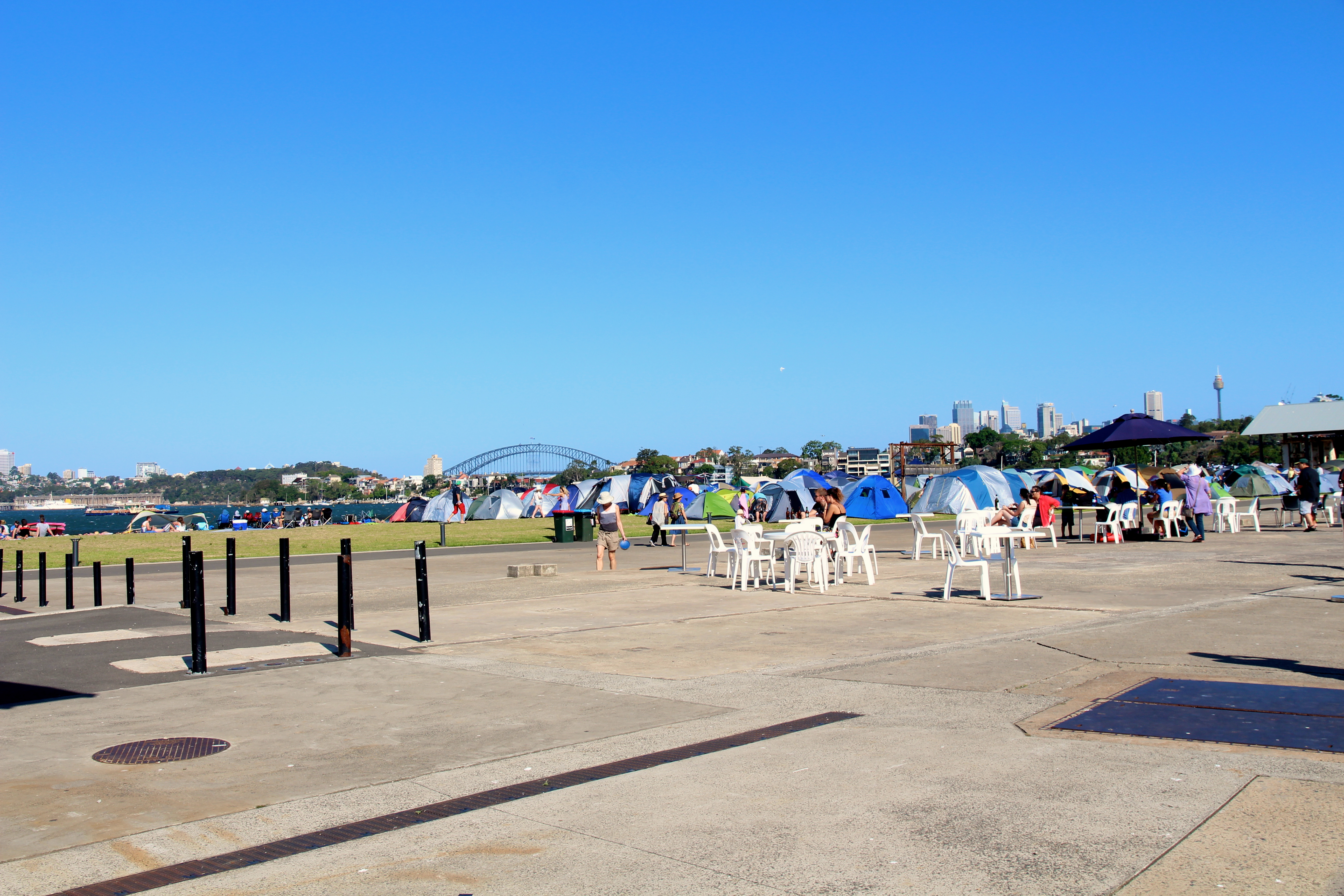 the campgrounds at cockatoo island